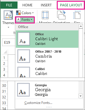 Change the appearance of your worksheet - Microsoft Excel