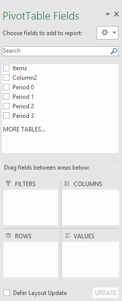 Create a PivotTable to analyze worksheet data